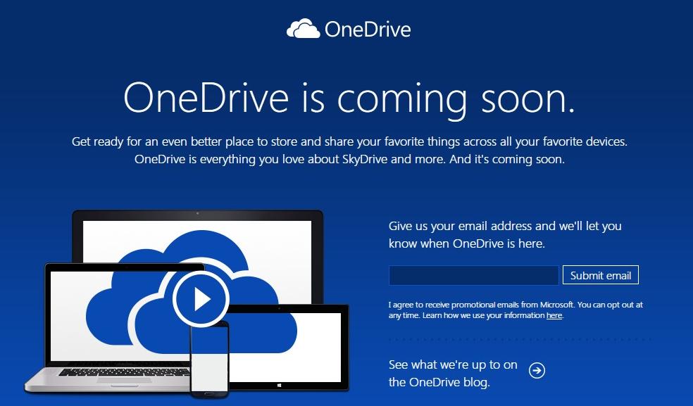 "Microsoftがクラウドストレージサービス""SkyDrive""を""OneDrive""に改称"