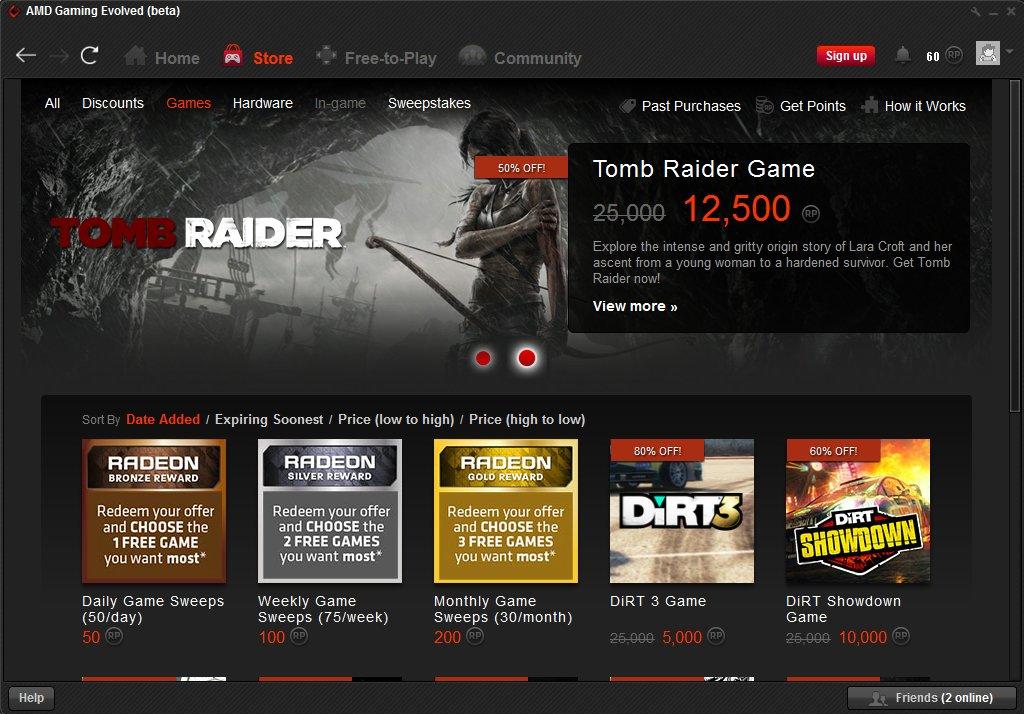 "AMD、ゲームを遊ぶと貯まるポイントで周辺機器やゲームをゲット出来る報償プログラム、""AMD Rewards Program""を発表"