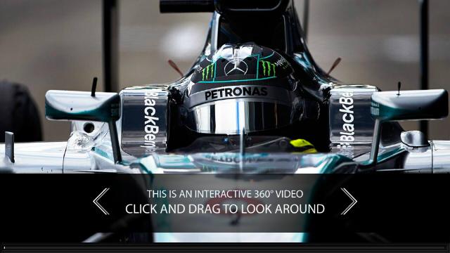 メルセデス・ベンツが走行中のF1マシンから全方位を撮影した動画を公開