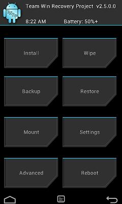 Nexus 5にカスタムリカバリ(TWRP)を導入する