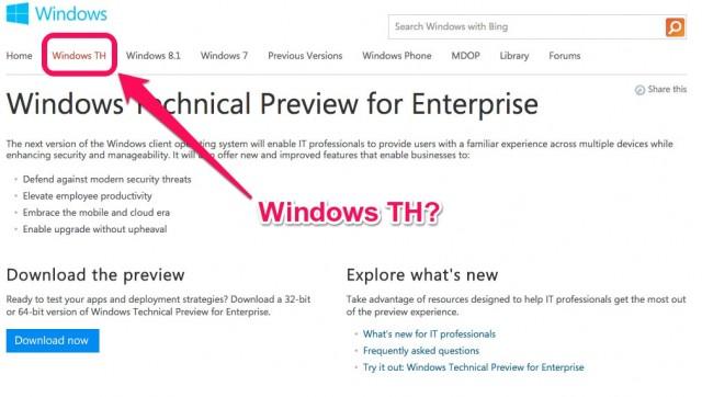 Windows TH?